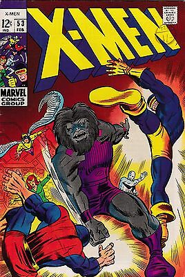 X-MEN #53 - 1969 - VG/FN pence copy - 1st Barry Smith Art
