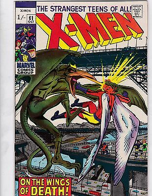 X-MEN #61 - 1969 - 2nd app of Sauron VG/FN pence copy