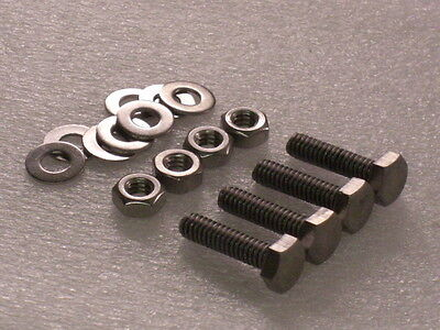 """4x 1/4 BSW x ¾"""" Whitworth Stainless Hex Bolts Nuts Washer VINTAGE CAMERA TRIPOD"""