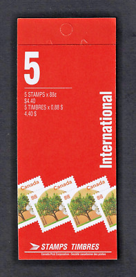 Canada — Booklet Pane of 5 — Fruit Tree: Westcot Apricot #1373 (BK168) — MNH