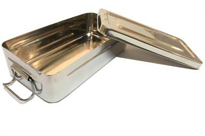 """Bdeals 8""""x4""""x2"""" Surgical Instrument Tray with Lid Holloware Dental Medical"""