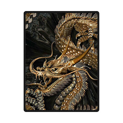 New Arrival Custom Chinese Dragon Soft Throw Blanket 58x80 Inch