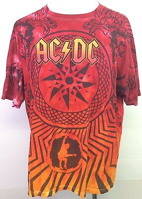 AC/DC Black Ice World Tour 2009 Concert T-Shirt Size 2XL VGC