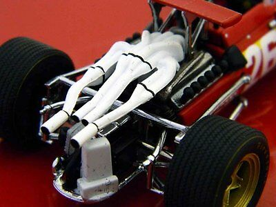 Ferrari 312 F1 Jacky Ickx Winner French GP 1968 Diecast Model Car