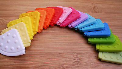 16 Colours Sampler pack Sew-Through Baby Safe Teether/Chewy Corner - baby bib