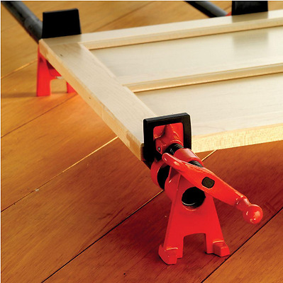 BESSEY, New H-Style Pipe Clamp Fixture Set for 3/4 in. Black Pipe, High Quality