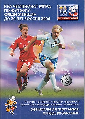 FIFA u20 Women World CUP Championship 2006 Russia / Germany USA Canada