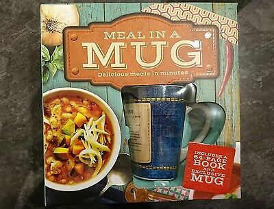 Meal In A Mug Novelty Book With Mug, New/Unused Opened Box For Photos RRP £13.00