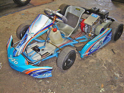 GMS X20 HONDA CADET KART 2014 with loads of spares, wheels and tyres