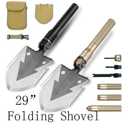 "UK Functional 29"" Military Portable Tool Folding Shovel Camping Survival Spade"