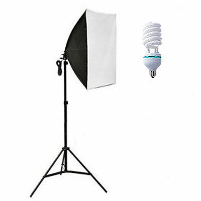 Photography Studio 135W Softbox Continuous Lighting Soft Box Light Stand Kit UK