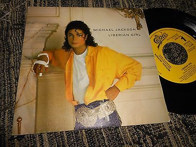 "Michael Jackson Liberian Girl Single 7"" 1989 Promo One Side Spain"