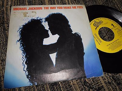 "Michael Jackson The Way You Make Me Feel Single 7"" 1987 Promo One Side Spain"