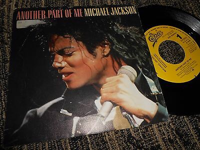 "Michael Jackson Another Part Of Me Single 7"" 1988 Promo One Side Spain"