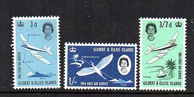 Gilbert And Ellice Islands 1964 Sg 82-84 First Air Service Mnh