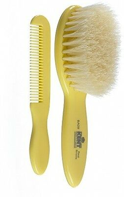 Quality Kent White Bristle Baby Brush And Comb Set New Free Ship *