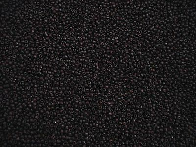 Seed Beads 2mm Dark Brown Opaque 50g Glass Necklaces Bracelets FREE POSTAGE