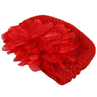 Cute Baby Flower Cotton Cap (Red) BF