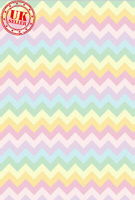 PASTEL RAINBOW CHEVRON BABY BACKDROP BACKGROUND VINYL PHOTO PROP 5X7FT 150x220CM