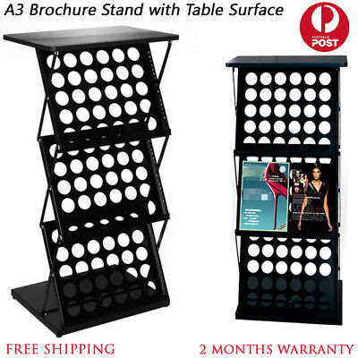 New A4 Brochure Stand Catalogue Book Rack Holder Display with Table Top Surface