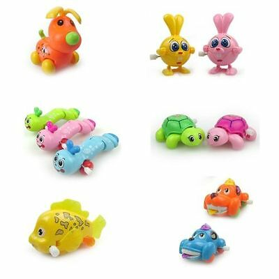 Mini Animal Vechile Cars Clockwork Spring Wind Up Toy For Newborn Baby Toddlers