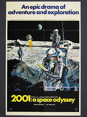 2001: A Space Odyssey (1968) Style 'B' Original US One Sheet Movie Poster