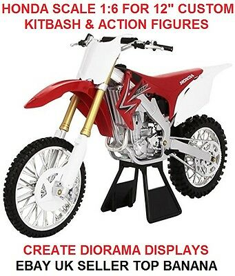 "Motorcycle Honda Scale 1/6 12"" Figure Dam Hot Toys Bbi Dragon Biker Action Man"