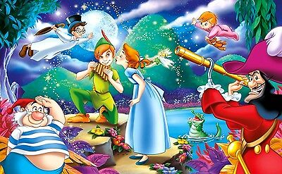 Disney Peter Pan Wendy and Friends B/W Cross Stitch Chart