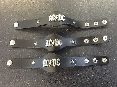 AlchemyOFFICIAL AC DC AC/DC Leather Wrist new (with marks)