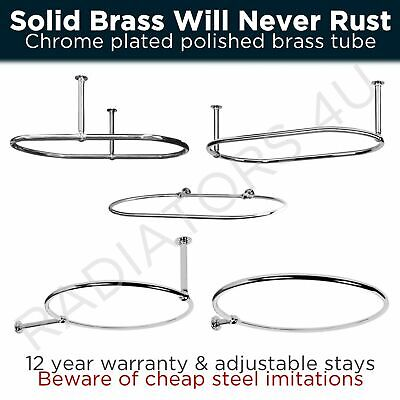 """""""Traditional Round & Oval Shower Curtain Rails With Optional Wallstays"""""""
