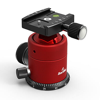 Markins Camera Tripod Ball Head Q20i Red w/ Quick Turn Knob Quick Shoe