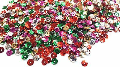 5g Sequin Mix - Cupped Rounds - 7mm - Metallic - Mixed Colour