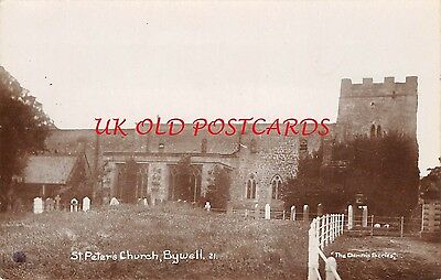 Northumberland - BYWELL  - St. Peter's Church  - Real Photo postcard.