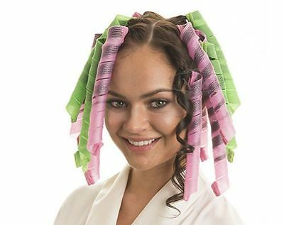 40PCS 55CM  Magic Hair Curler DIY Spiral Styling Rollers Ringlets Hairband tools