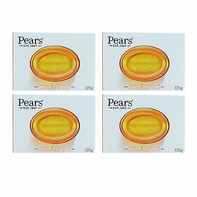 Pears Pure & Gentle Soap Bar For Radiant looking Skin Natural Oils 125g