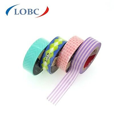 Washi Tape 15mmX10m Roll Decorative Sticky Paper Masking Tape Adhesive Deli