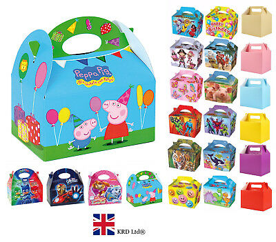 PARTY PARTY BOXES Coloured Themed Kids Birthday Gift Loot Bags Favors Bags Loot