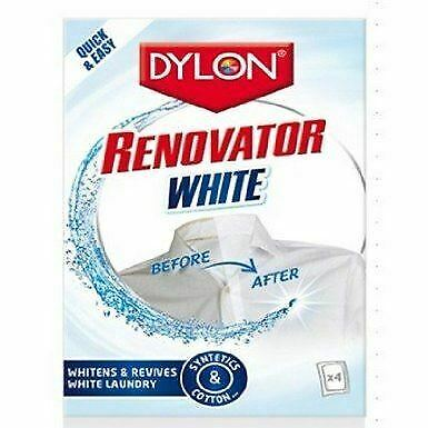 Dylon Fabric Renovator Whitener 4 Sachets - Brightens Laundry Clothes