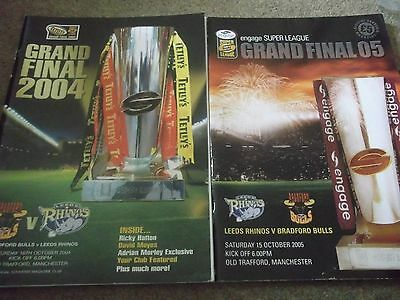 Bradford Bulls V Leeds Rhinos Grand Final Programme Collection 2004 & 2005