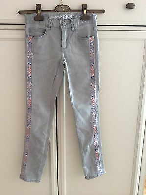 Gap Kids Girls Gray Embroidered Jeans Size 8