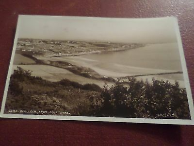 1960 Postcard Benllech From Golf Links Anglesey