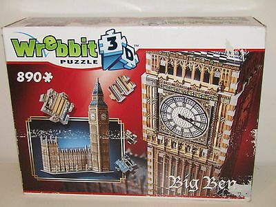 Big Ben and Parliament, 890 Piece 3D Jigsaw Puzzle Made by Wrebbit Puzz-3D, New