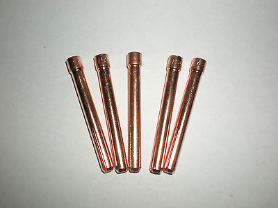 Tig Welding COLLETS 10N22,10N23,10N24,10N25,(5/pkt) To Suit WP17/18/26 Torches.