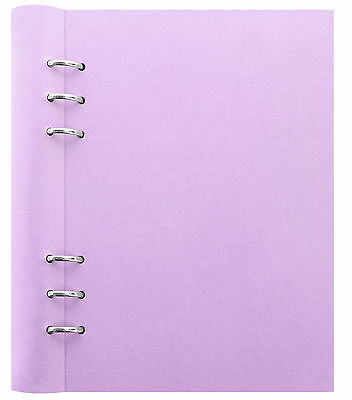 Filofax A5 Clipbook Pastel Orchid Notebook Binder Leather Look