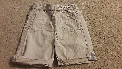 age 9-12 months stone cotton shorts by George