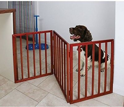 3 Three Panel Indoor Folding Dog Pet Tall Gate Freestanding Puppy Barrier Stairs