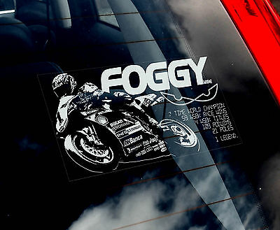 Carl 'Foggy' Fogarty - Superbike Car Window Sticker - Moto GP Eyes Motorbike