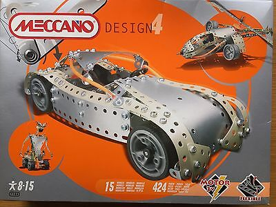 Meccano Design4 Kit - Unused - Kit no.7700 - 424 parts - 15 models.