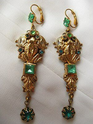 Earrings, signed Askew London, 24kt Gold Plated, perfect condition