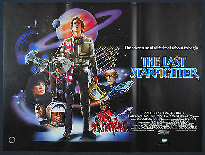 The Last Starfighter (1984) Original British Quad Movie Poster.